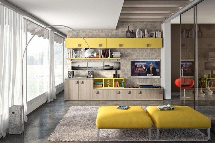 s wohnzimmer wohnwand fur moderne wohnzimmer schrankwande l - boisholz, Mobel ideea