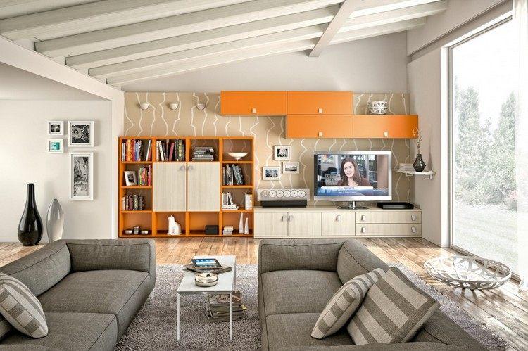 27 Ideen fr Schrankwand im Wohnzimmer mit viel Stauraum