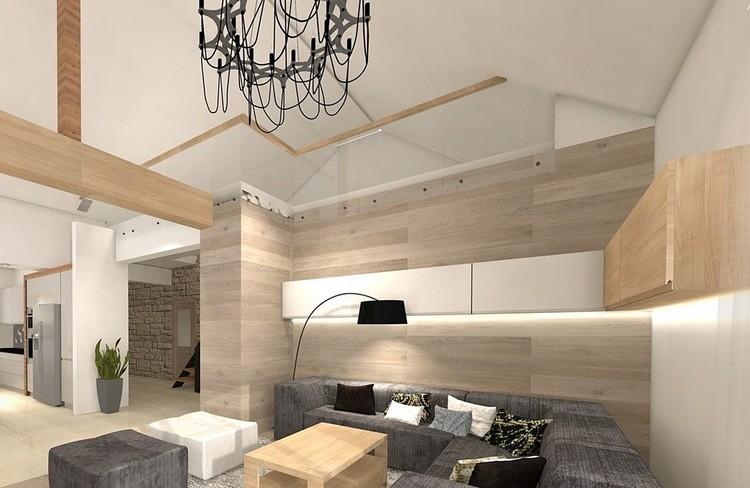 Wandgestaltung im Wohnzimmer  85 Ideen und Beispiele
