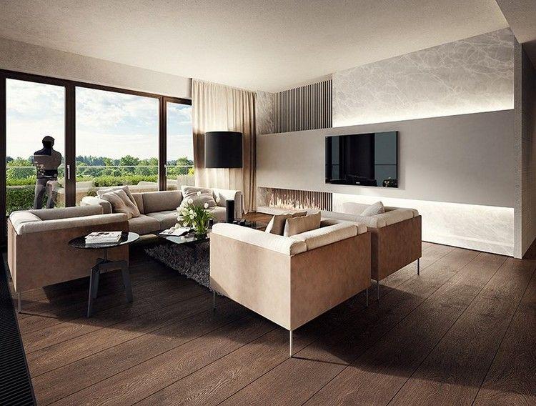 Lieblich Wandgestaltung Im Wohnzimmer 85 Ideen Und Beispiele