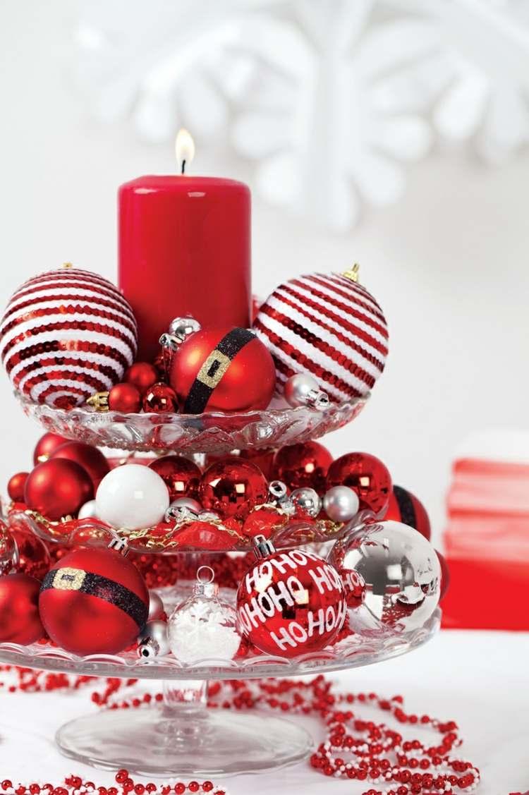 glastisch weihnachtlich dekorieren glastisch mit holz. Black Bedroom Furniture Sets. Home Design Ideas