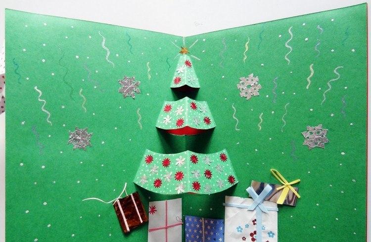 weihnachtskarten basteln anleitung weihnachtsbaum. Black Bedroom Furniture Sets. Home Design Ideas