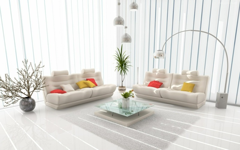 Wohnzimmer dekorieren  50 Ideen mit Kissen Bildern  mehr