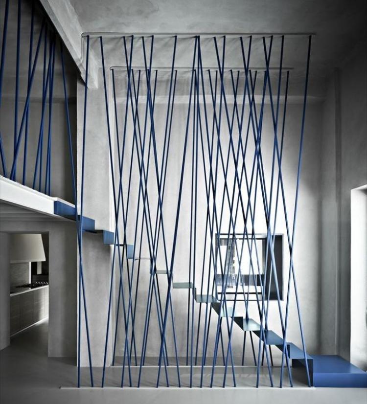 Treppengelnder streichen  Ideen in verschiedenen Farben