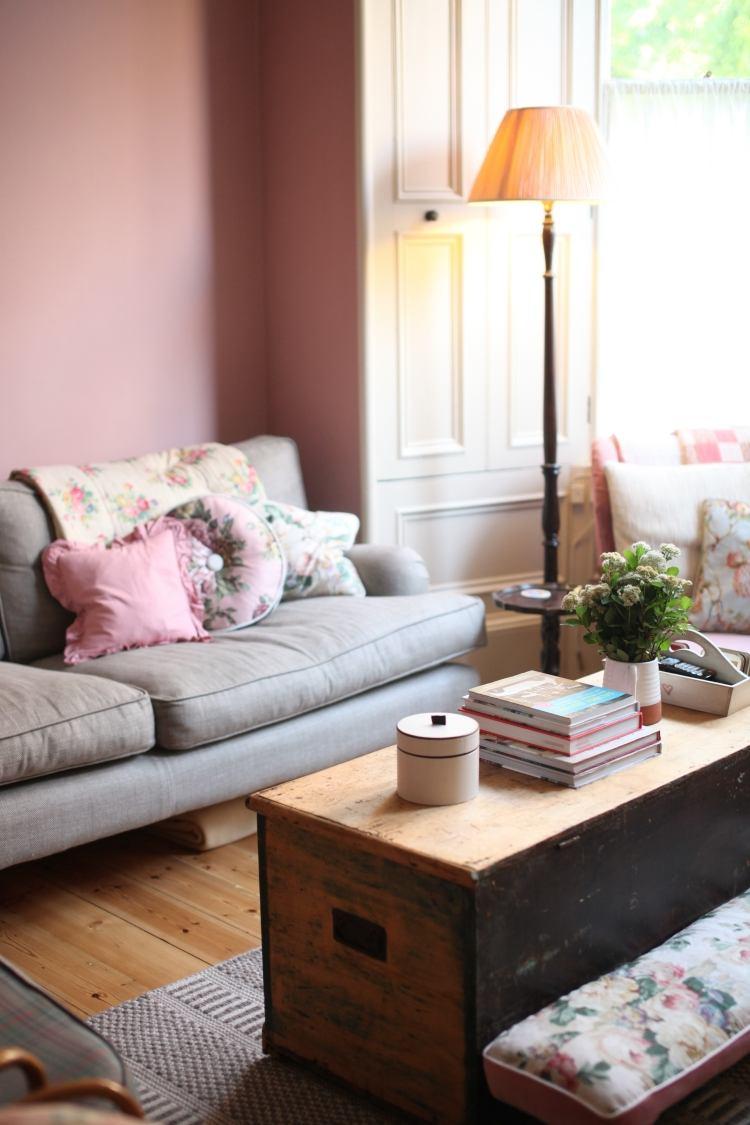 Altrosa Wandfarbe fr romantisches Ambiente in 38 Bildern