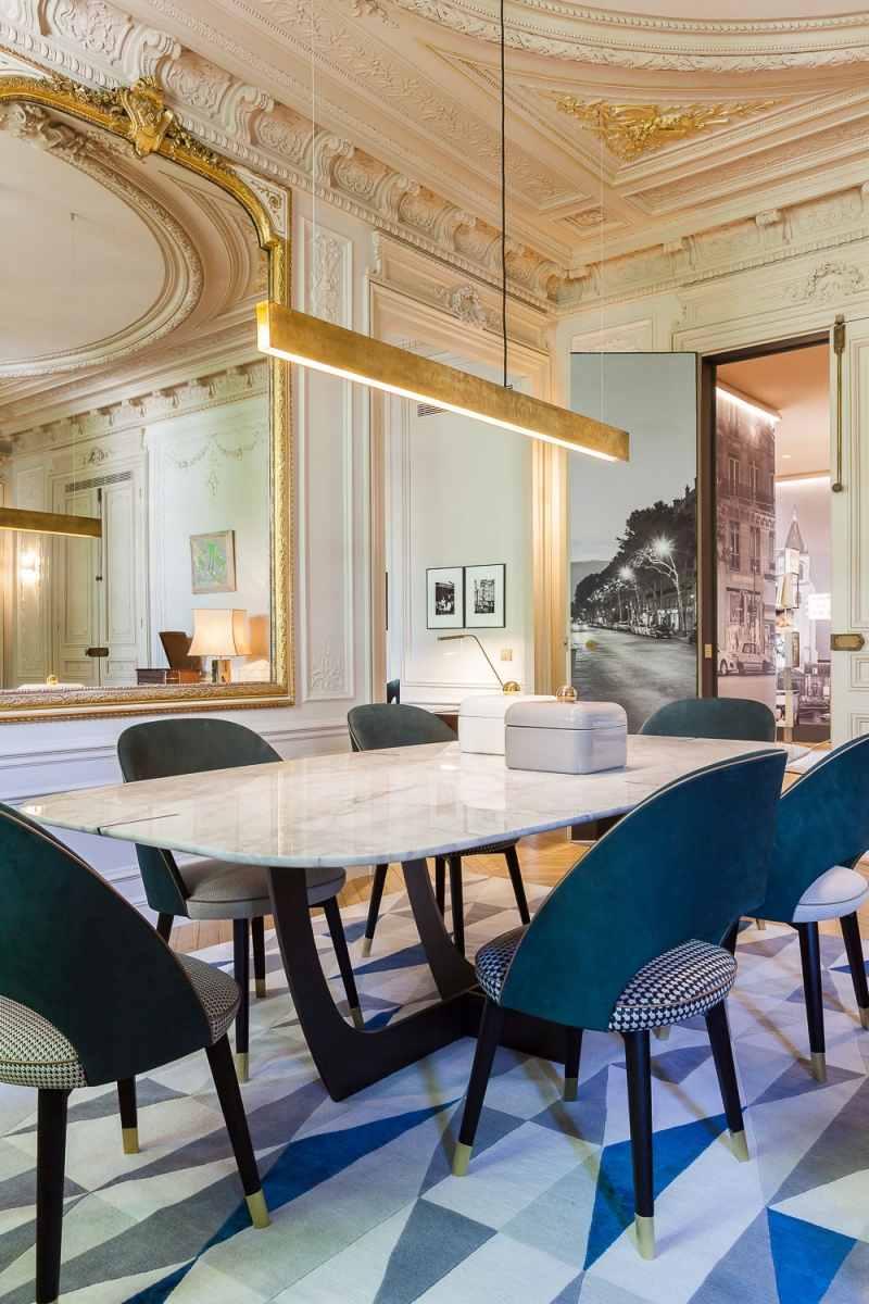 Barock trifft Moderne in nobler Pariser Wohnung
