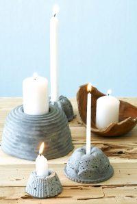 Coole Bastelideen aus Beton - 17 tolle DIY Wohnaccessoires