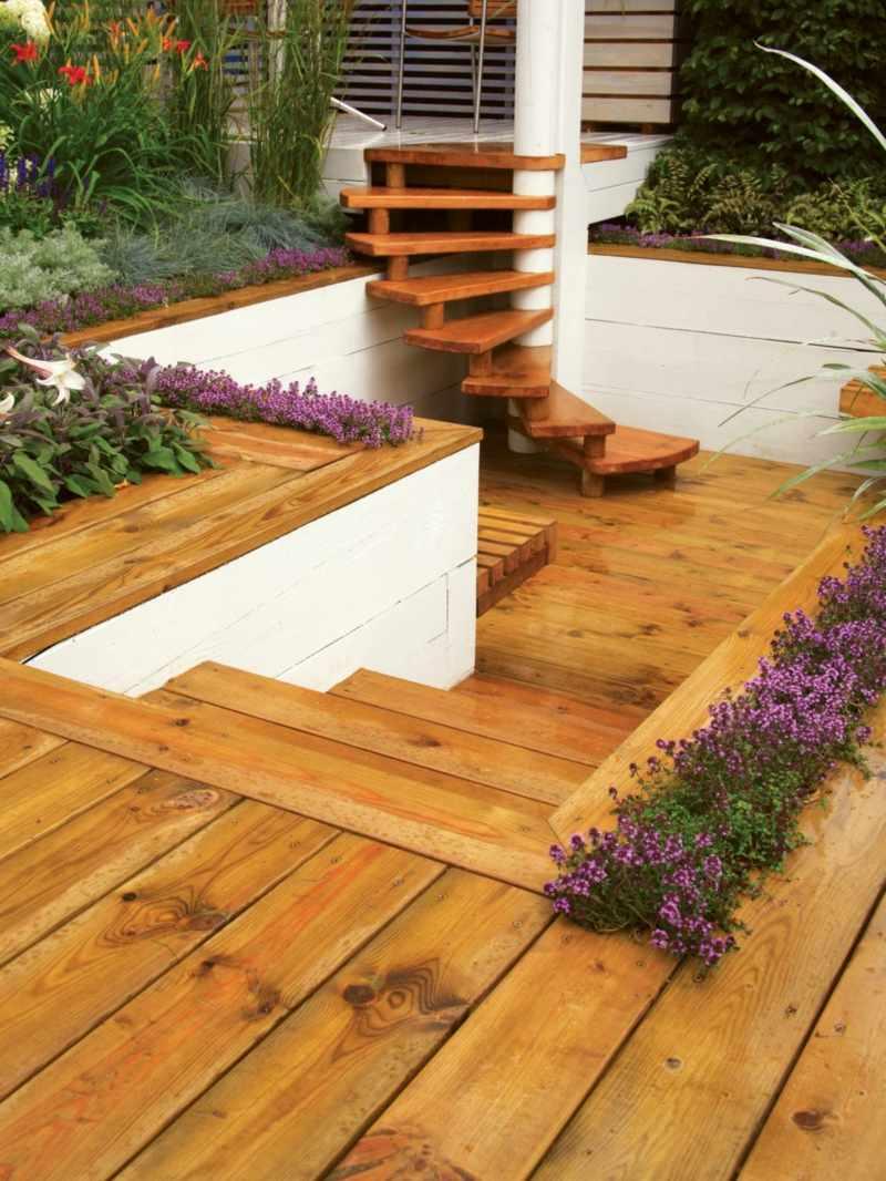 Terrassenbepflanzung ideen beete gestaltung m belideen for Gartengestaltung beete