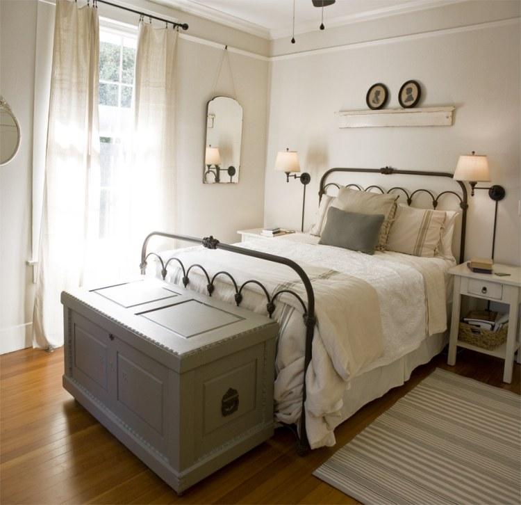 Landhausstil Schlafzimmer in Wei  50 Gestaltungsideen