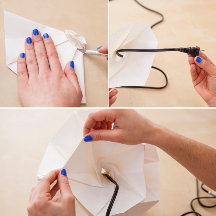 Origami Lampe falten fr Anfnger  4 DIY Anleitungen