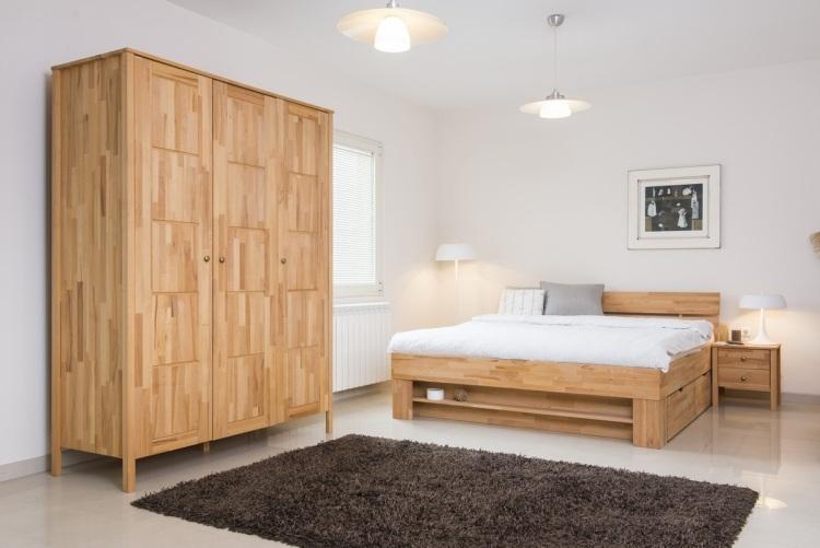 stunning schubladenbett massivholz ideen gallery - home design, Schlafzimmer entwurf