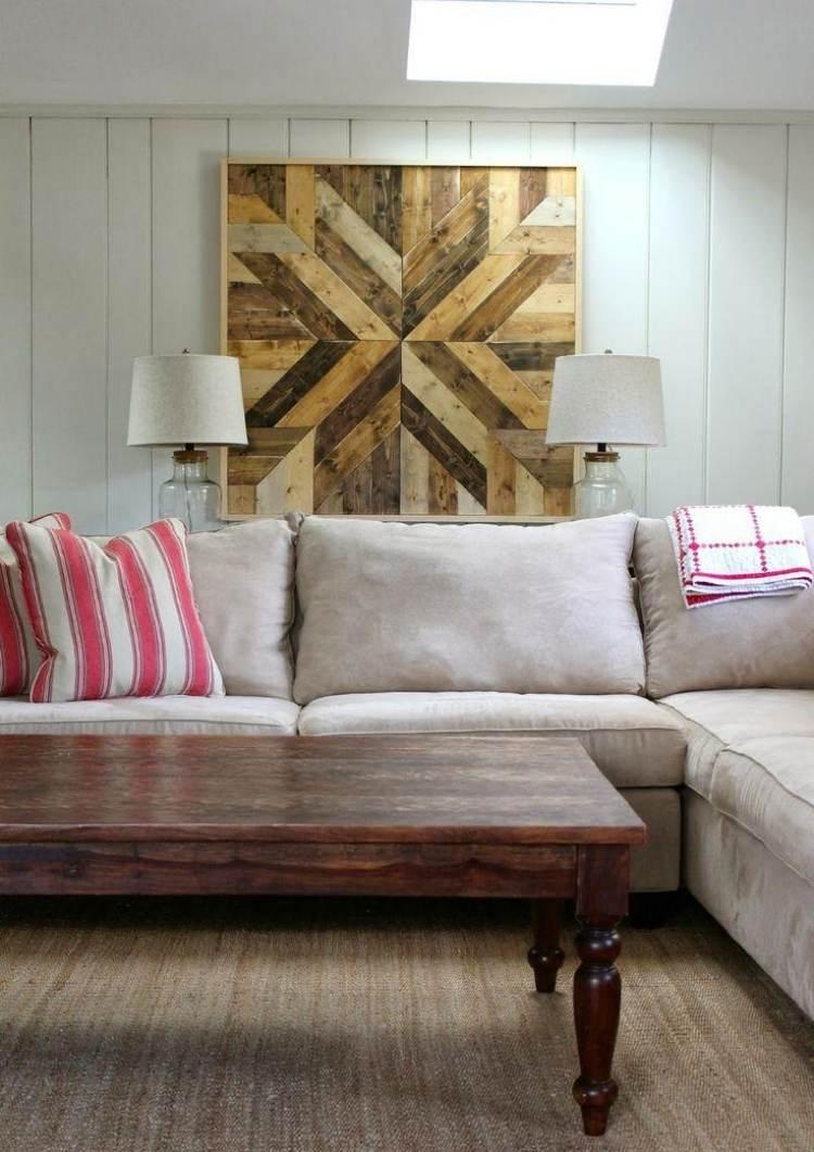 Wanddeko aus Holz selber machen  32 kreative Inspirationen