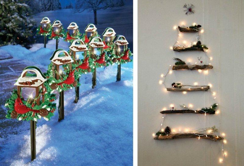 DIY Beleuchtung zu Weihnachten  30 Ideen mit Lichterketten