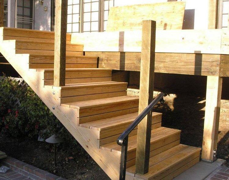 treppenstufen aus holz auf beton befestigen | sichtschutz,