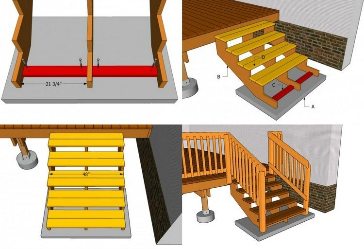 gartentreppe holz selber bauen anleitung m belideen. Black Bedroom Furniture Sets. Home Design Ideas