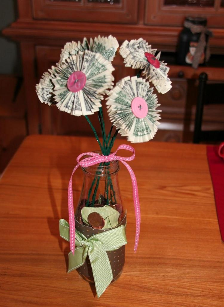 Geldgeschenke zum Geburtstag basteln  15 DIY Ideen