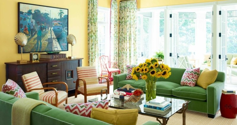 32 Ideen zu Sofa in Grn fr die Wohnzimmer Einrichtung