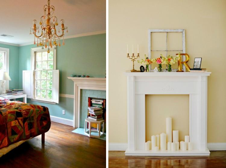 Kaminumrandung selber bauen und effektvoll dekorieren