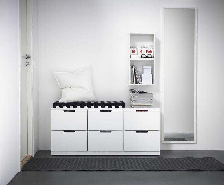 wohnen garderoben flurmoebel sitzbank flur modern skandinavisch l