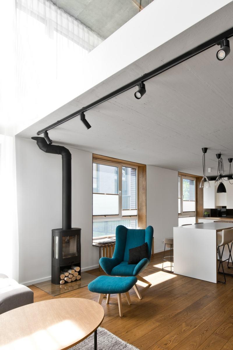 Skandinavischer Stil in Grau fr moderne Loft Einrichtung