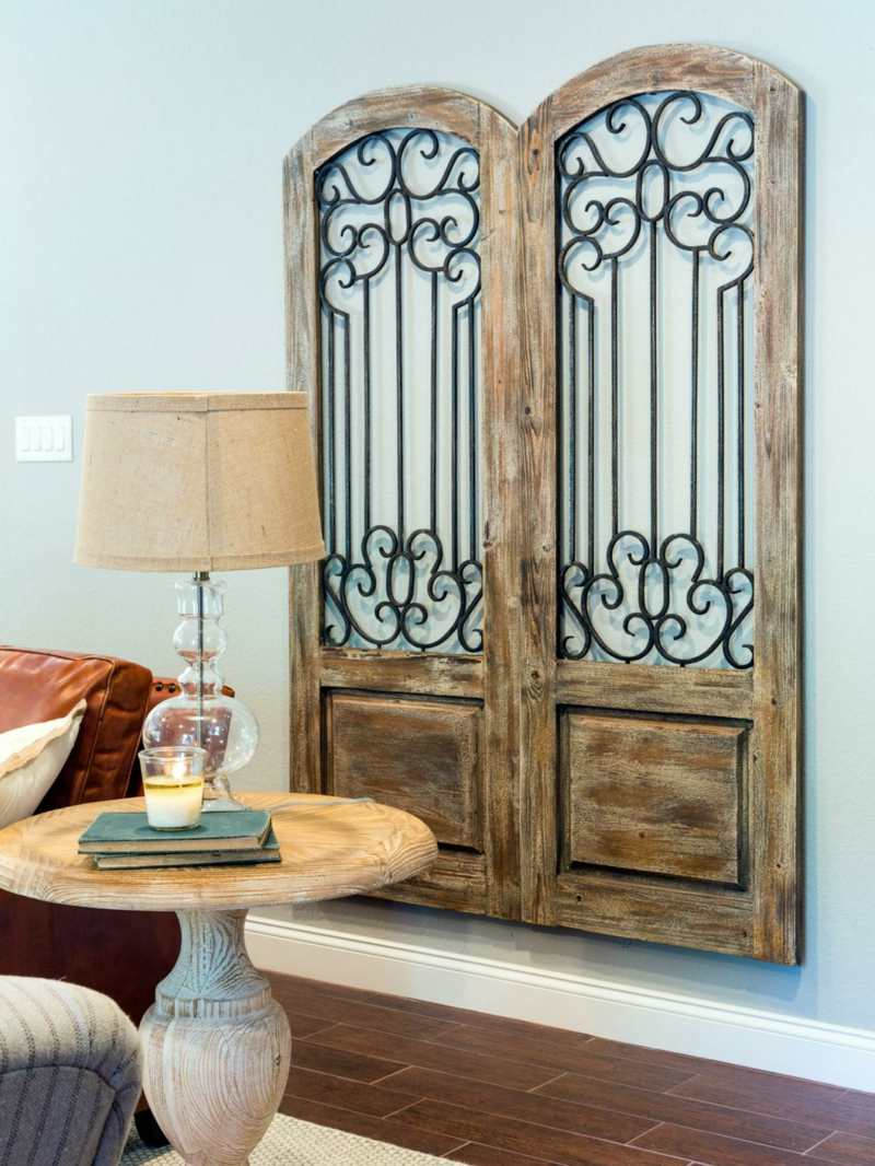 wanddekoration holz ornament holzornament mit sockel wei 38x45 cm shabby landhaus holzbild. Black Bedroom Furniture Sets. Home Design Ideas