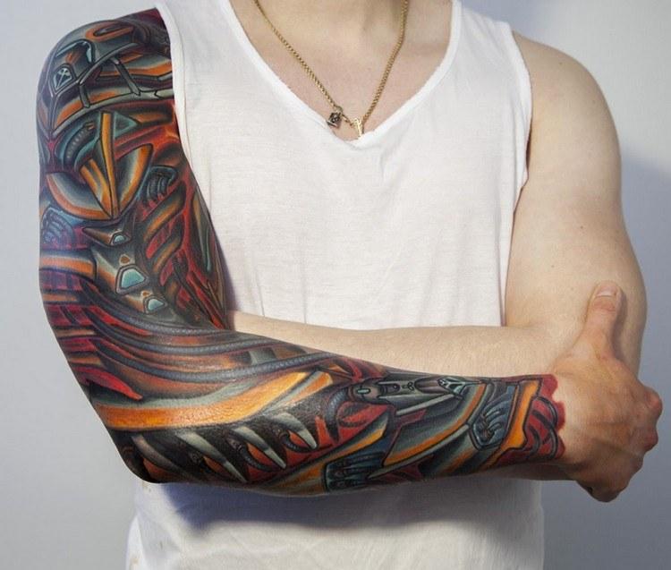 Tattoo Biomechanik 3d Oberarm