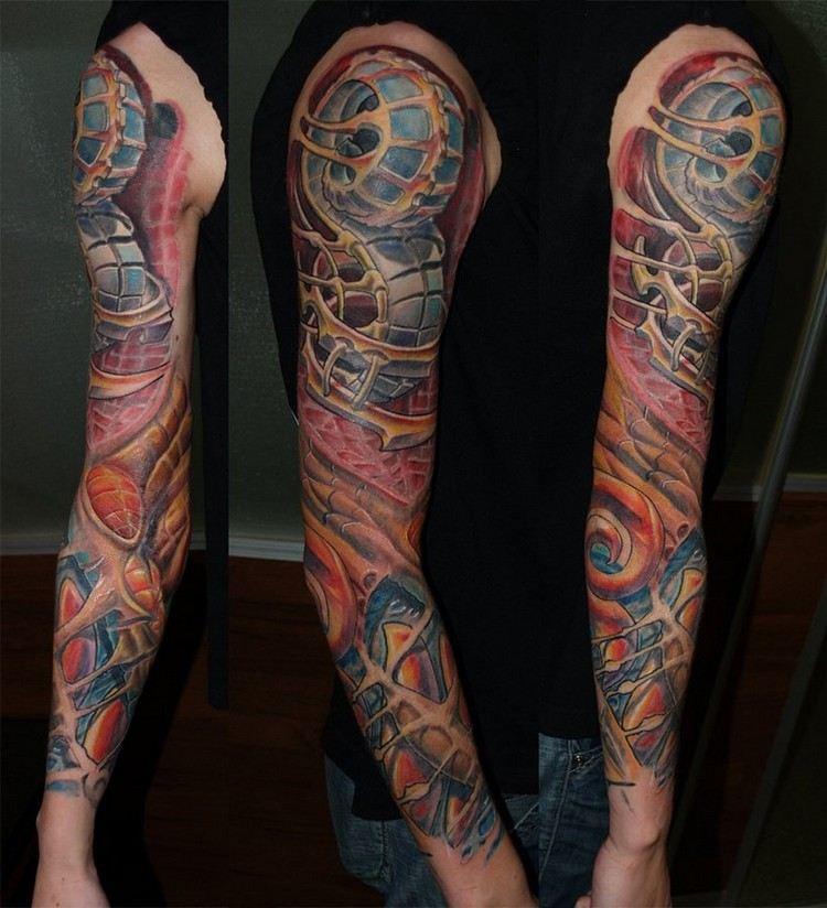 Biomechanik Tattoo  50 Bilder Mit Roboterhaften Motiven