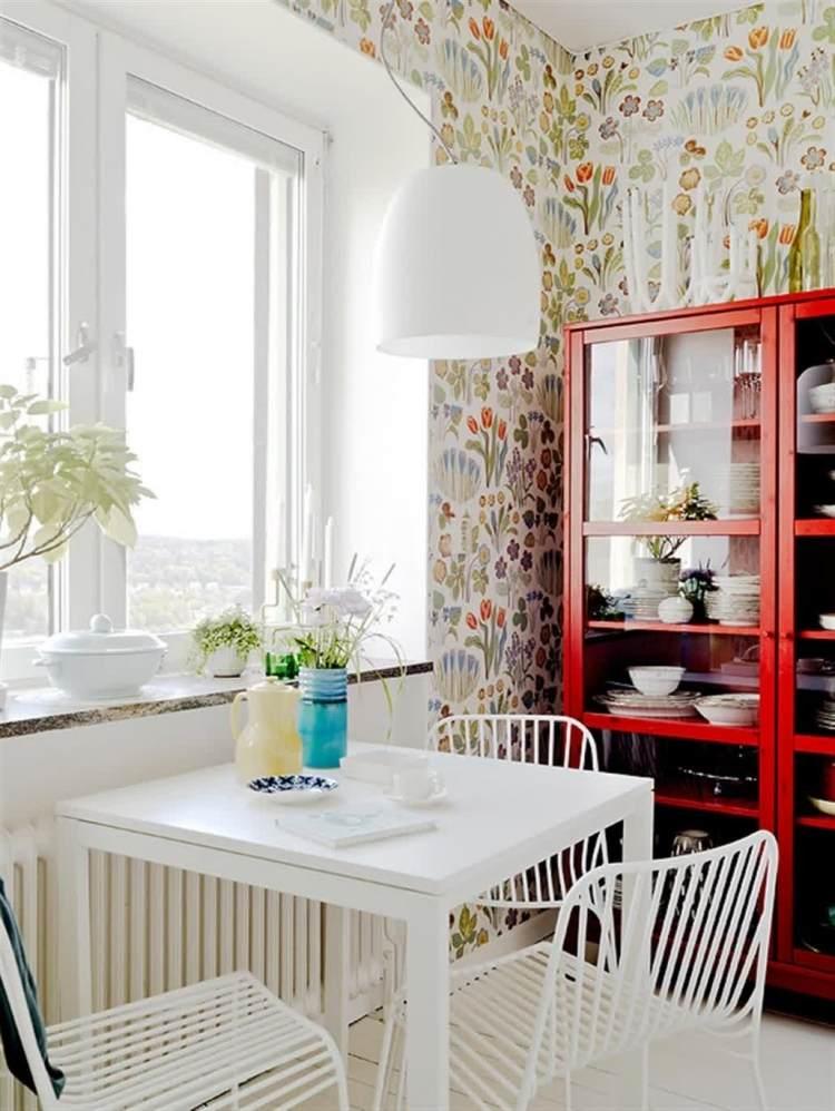 Vintage Tapeten im modernem Interieur  ein Stilmix