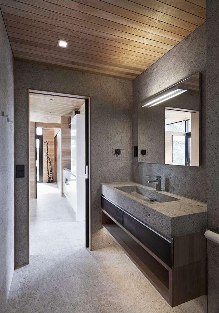 Modernes Bad mit Holz  27 Ideen fr Mbel Boden Wand  Decke