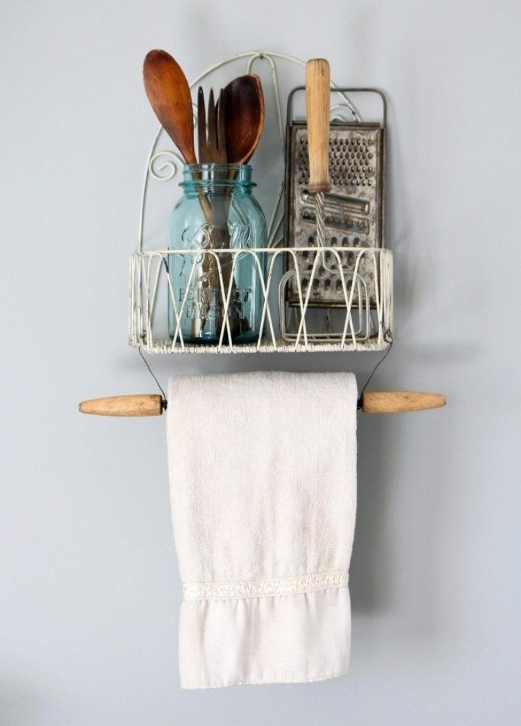 kitchen utensil set fauset deko ideen für küche - 28 praktische diy halterungen