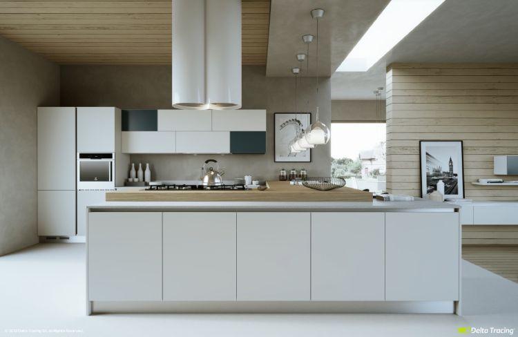 graue küche helle arbeitsplatte  25 moderne küchen