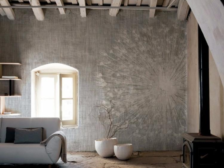 wohnzimmer tapeten trends grau - boisholz, Mobel ideea