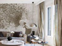 Tapete im Wohnzimmer von Inkiostro Bianco - 50 Modelle