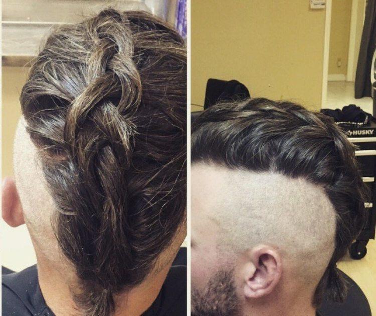 Zopf männer lange haare Lange Haare