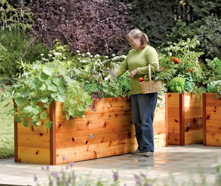balkon hochbeet bepflanzen - boisholz, Gartengerate ideen