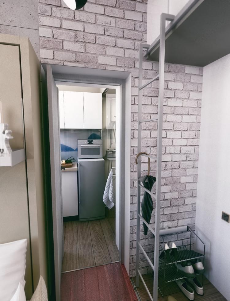 Wohnideen von steen  einraumwohnung gestalten | villaweb.info. wohnideen 40 qm ...