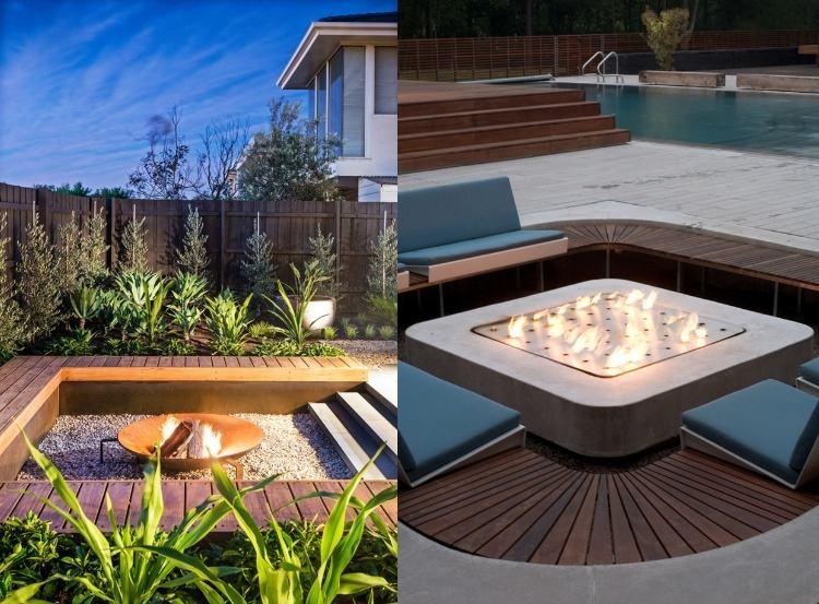 gemauerte sitzbank im garten senkgarten mit sitzplatz gestalten, Garten und erstellen