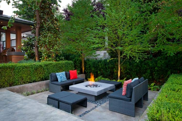 senkgarten mit sitzplatz gestalten moderne ideen haus garten, Garten und erstellen