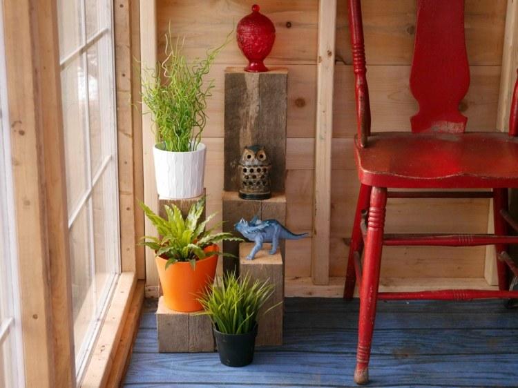 Blumenstnder selber bauen  12 Ideen aus Metall und Holz