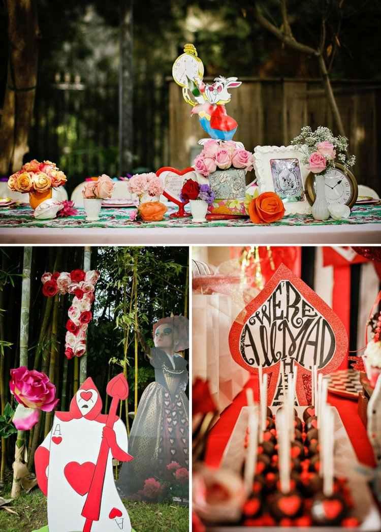 Alice Im Wunderland Mottoparty Deko Und Kostüm Ideen