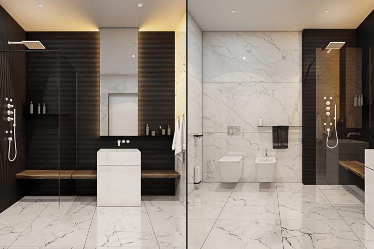 moderne wohnung weiss holz, minimalistisch moderne marmor badezimmer design india : laminat in, Design ideen
