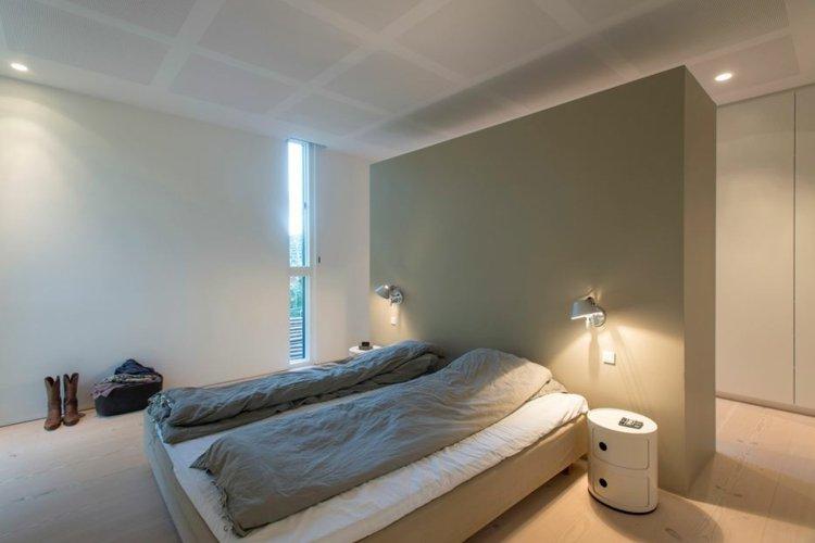 Bett ohne Kopfteil  Ein harmonisches SchlafzimmerInterieur