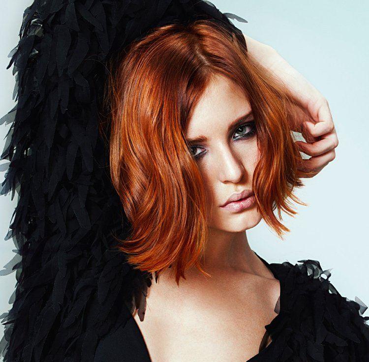 Damen Haarfarbe Kupfer