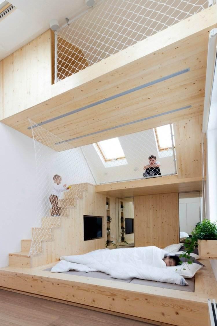 Schlafzimmer Mit Spielbereich Eltern Kinder Interieur Idee