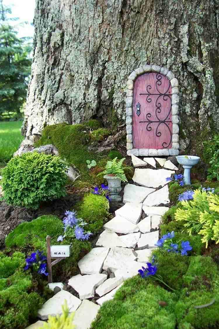 Selber Machen Gartendeko Tuerknauf Vin E Metall Baum Gestalten, Hause Und  Garten
