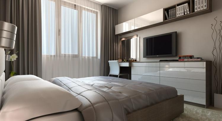 schlafzimmer vorhang design deko raumgestaltung ideen farbe, Badezimmer