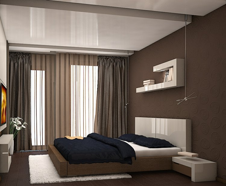 schlafzimmer vorhang design deko raumgestaltung ideen farbe. Black Bedroom Furniture Sets. Home Design Ideas