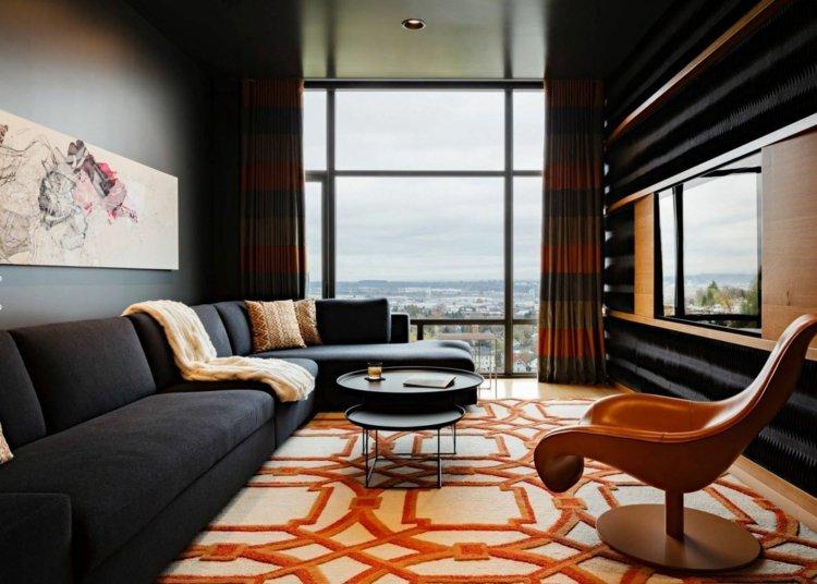 Best Wohnzimmer Orange Schwarz Ideas - Globexusa.us - globexusa.us