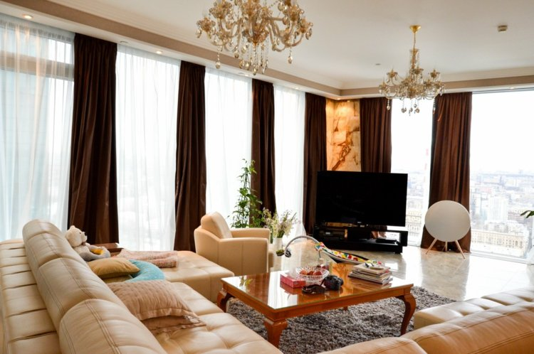 Wohnzimmer Gardinen Und Vorhnge 26 Ausgefallene Ideen