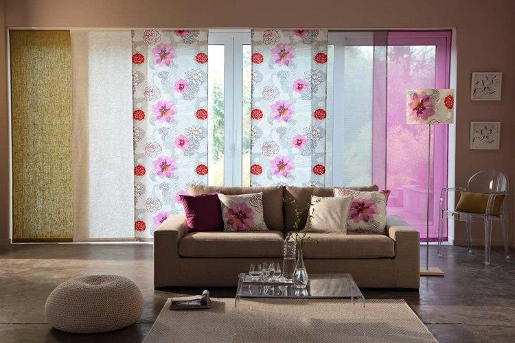 schiebevorhange wohnzimmer modern | yahewz